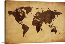 Antique maps wall art canvas prints antique maps panoramic close up of antique world map gumiabroncs Gallery