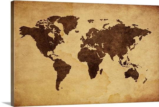 Worksheet. Close up of antique world map Wall Art Canvas Prints Framed