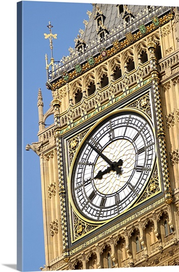 Close up of Big Ben in London, England
