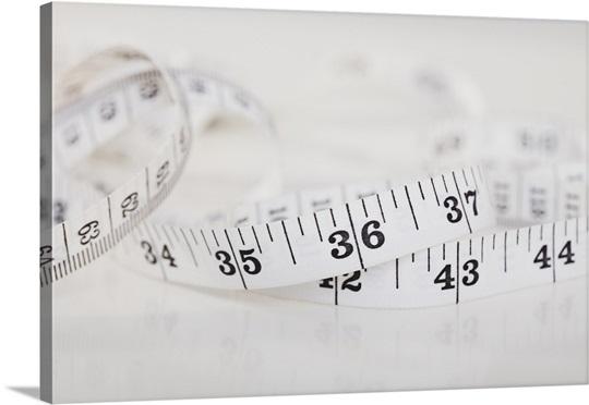 Close-up of measure tape, studio shot
