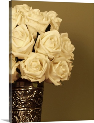 Close-up of White Roses in a vase
