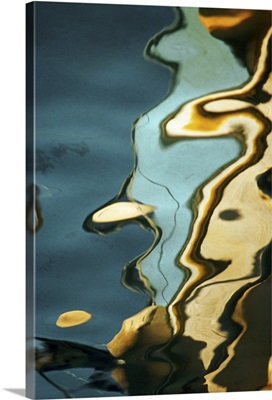 Colored pattern on water surface, full frame