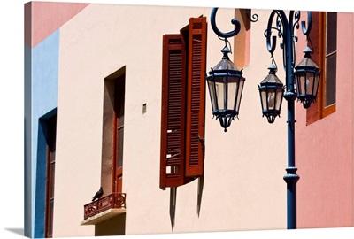 Colorful building detail, El Caminito, La Boca, Buenos Aires, Argentina, South America.