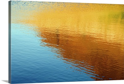 Colorful reflection in water