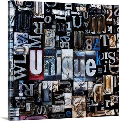 Composition of letterpress blocks