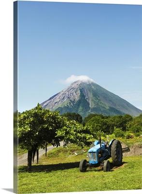 Concepcion Volcano with Tractor