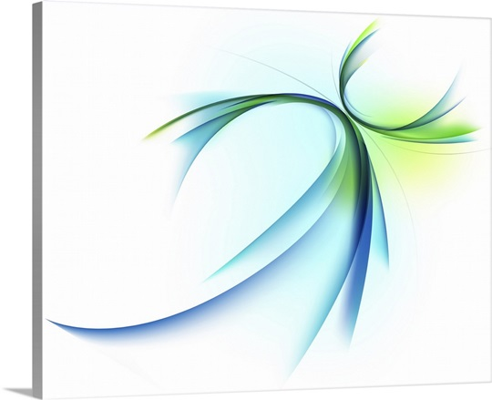 Curved shape on white background