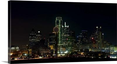 Dallas, Texas, illuminated skyline at night