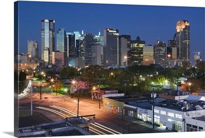 Dallas, Texas, skyline at dawn