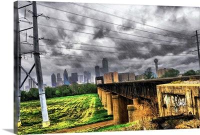 Dallas, Texas Skyline During Hurricane Ike