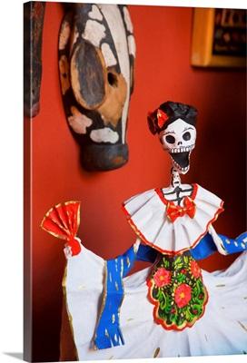 Day Of The Dead Papier Mache Figurine