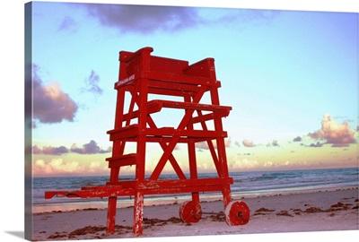 Daytona Beach Lifeguard Stand at Sundown.