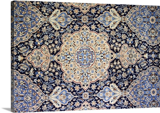 Detail of the pattern of a Nain Persian rug. Wall Art, Canvas Prints ...