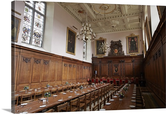 Dining room at clare hall cambridge wall art canvas for Dining hall wall painting