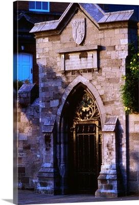 Dublin, entrance gates to Marsh's Library, Ireland