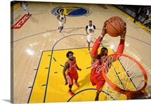 Dwight Howard of the Houston Rockets goes up for a dunk