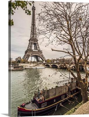 Eiffel Tower and Paris in Autumn