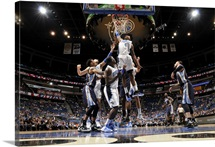Elfrid Payton of the Orlando Magic goes up for a dunk against the Memphis Grizzlies