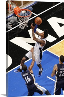 Elfrid Payton of the Orlando Magic shoots the ball against the Memphis Grizzlies