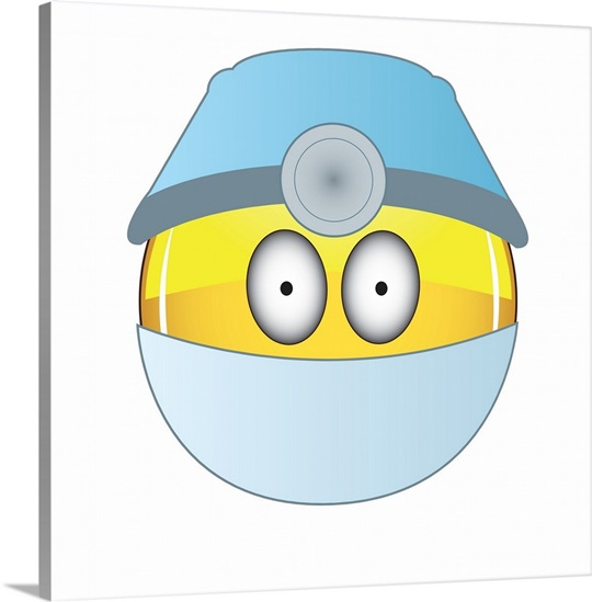 Emoji Wall Art emoji doctor face wall art, canvas prints, framed prints, wall
