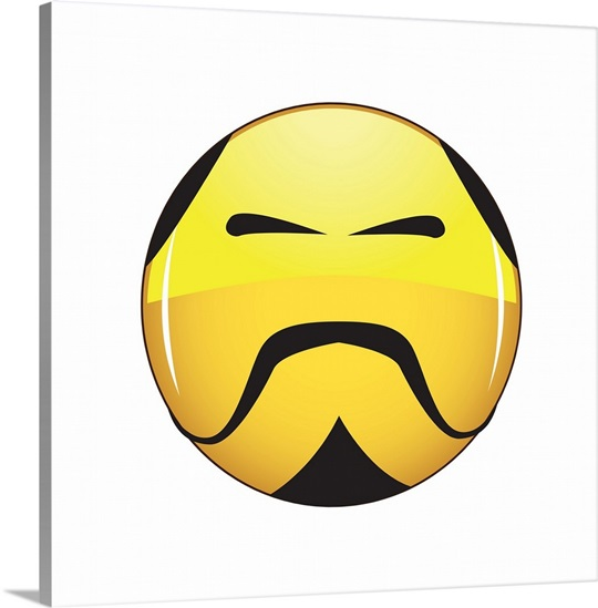 Emoji Wall Art emoji kung fu master face wall art, canvas prints, framed prints