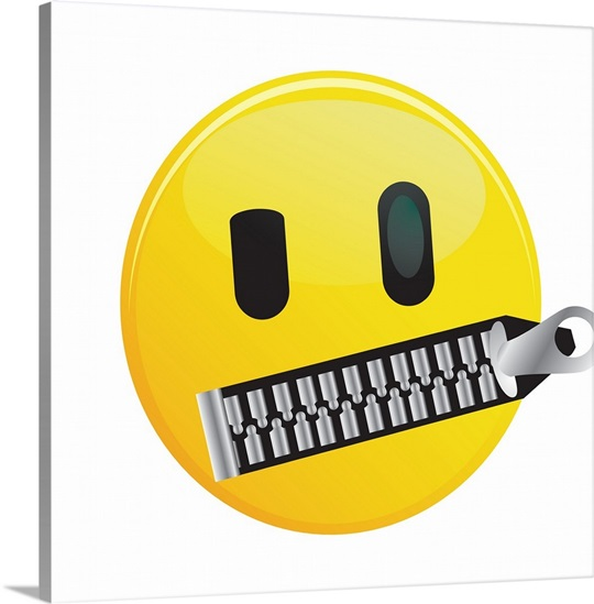 Emoji Wall Art emoji mouth shut wall art, canvas prints, framed prints, wall