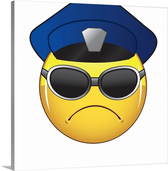 Emoji Wall Art emoji police officer face wall art, canvas prints, framed prints