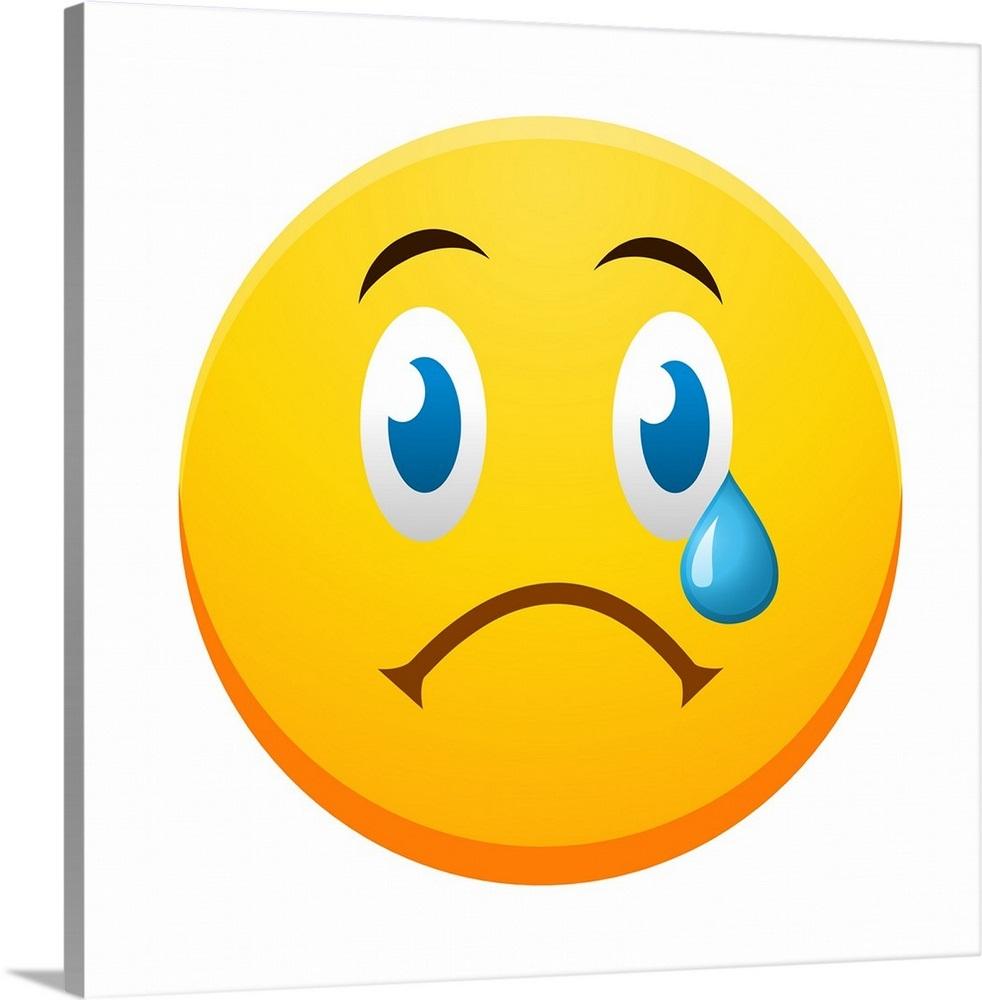 Emoji Sad Face Wall Art