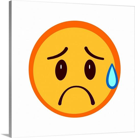 Emoji Stressed Face Wall Art, Canvas Prints, Framed Prints ...