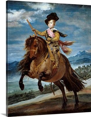Equestrian portrait of Prince Baltasar Carlos by Diego Rodriguez de Silva y Velazquez