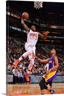 Eric Bledsoe 2 of the Phoenix Suns goes up for a dunk against the Los Angeles Lakers