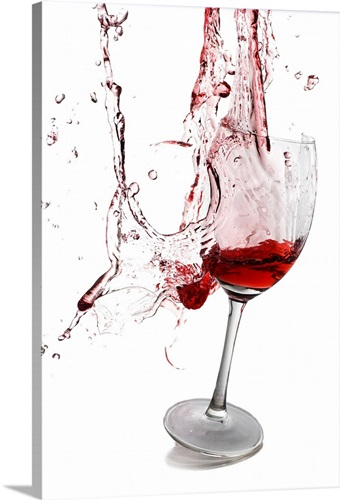 Exploding wine glass Wall Art, Canvas Prints, Framed Prints, Wall ...
