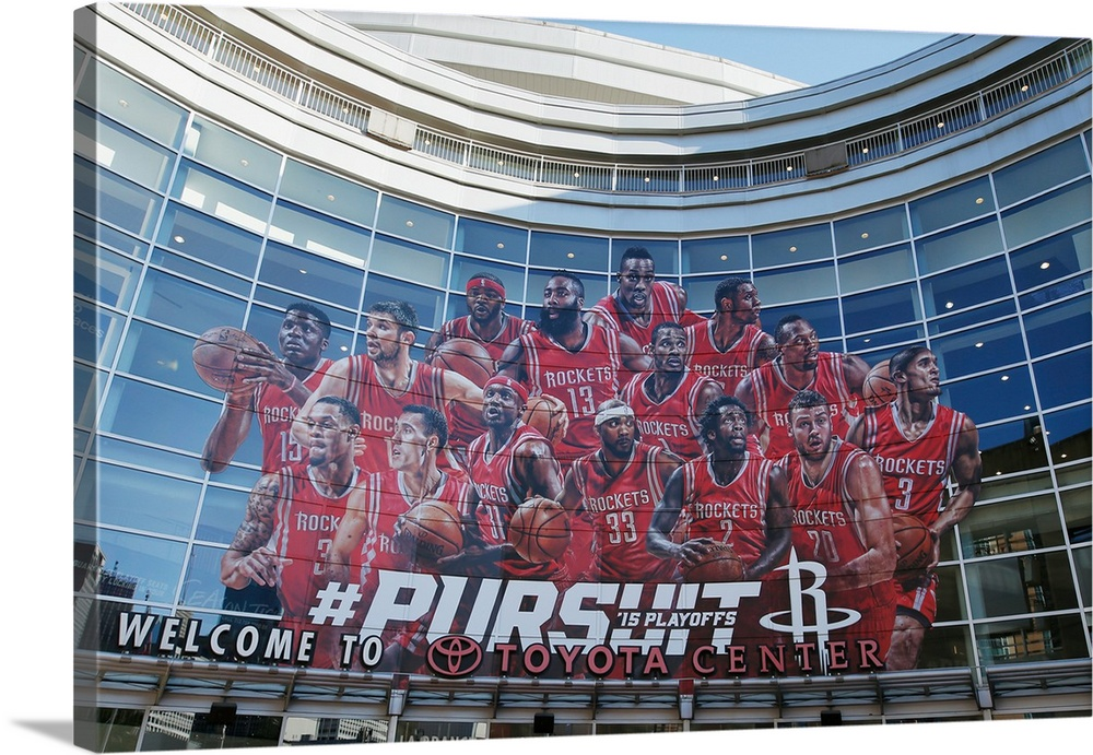 Exterior Mural, May 4, 2015 At The Toyota Center In Houston, Texas
