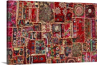 Fabric art - patch work handmade, handicraft art.