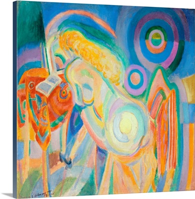 Femme Nue Lisant (Nude Woman Reading) By Robert Delaunay