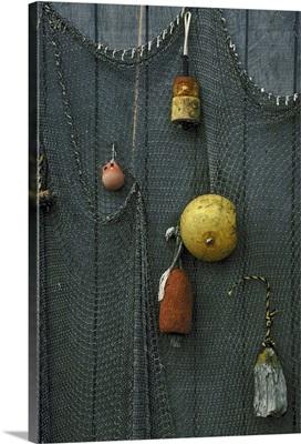 Fishing tools hanging