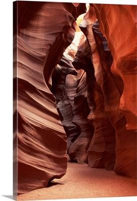 Flashflood-eroded sandstone formations of Antelope Slot Canyon, Arizona