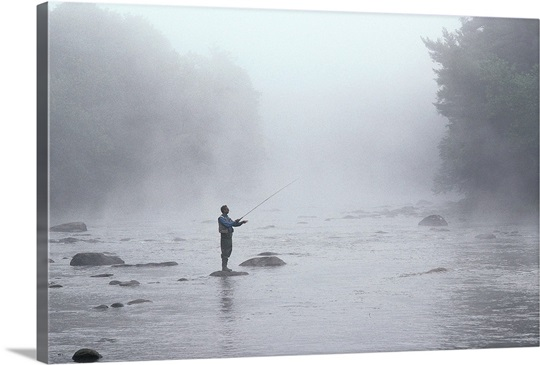 Fly fishing morning, CT Wall Art, Canvas Prints, Framed Prints, Wall ...