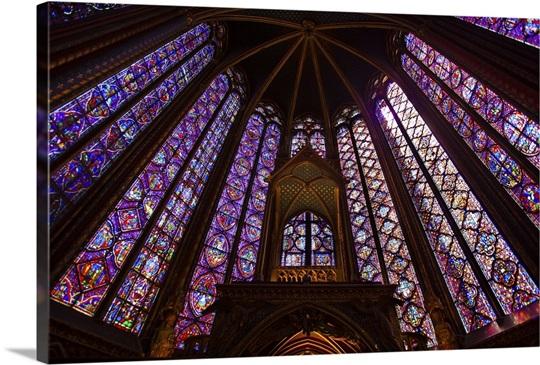 France Paris La Sainte Chapelle Interior