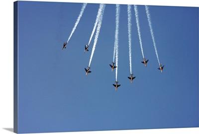 French aerobatic Aj Squadron Patrouille Acrobatique de France