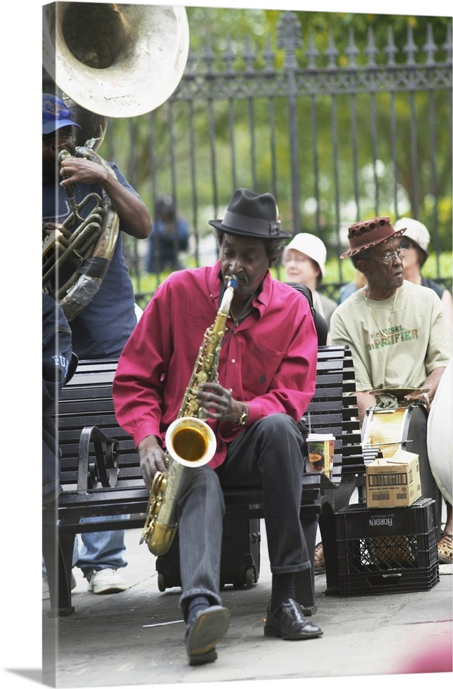 French Quarter Jazz at Jackson Square, New Orleans, Lousiana, USA