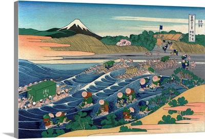 Fuji At Kanaya On The Tokaido