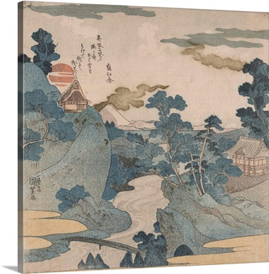 Fuji No Yukei (An Evening View Of Fuji) By Utagawa Kuniyoshi