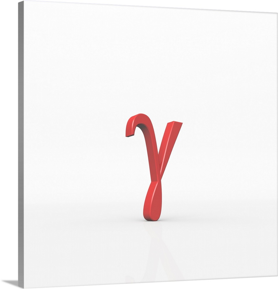 Gamma is the third letter of the Greek alphabet. Wall Art, Canvas