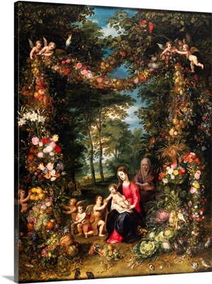 Garland of Flowers with Virgin and Child by Jan Brueghel the Elder