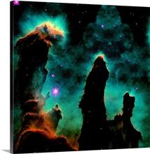 Gaseous pillars in the Eagle Nebula