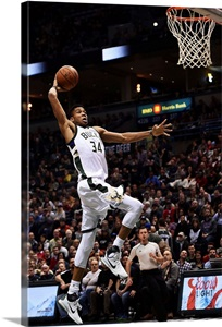 Giannis Antetokounmpo 34 Of The Milwaukee Bucks Dunks