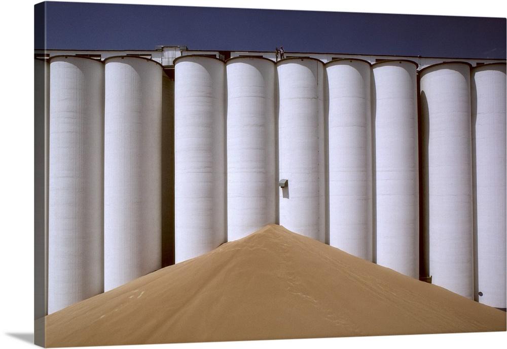 Grain Storage Bins. Canvas