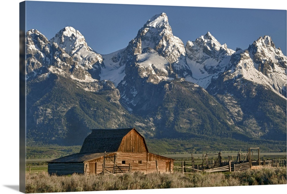 Grand Tetons National Park Wall Art Canvas Prints Framed