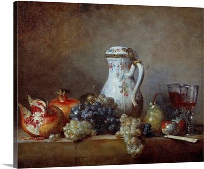 Grapes and pomegranates by Jean Baptiste Simeon Chardin